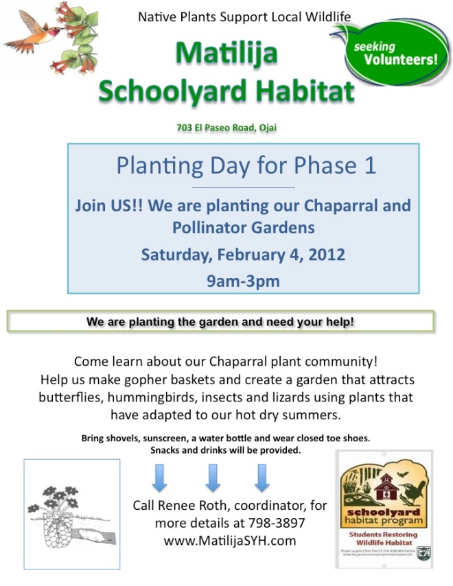 Flyer for Planting Day #1